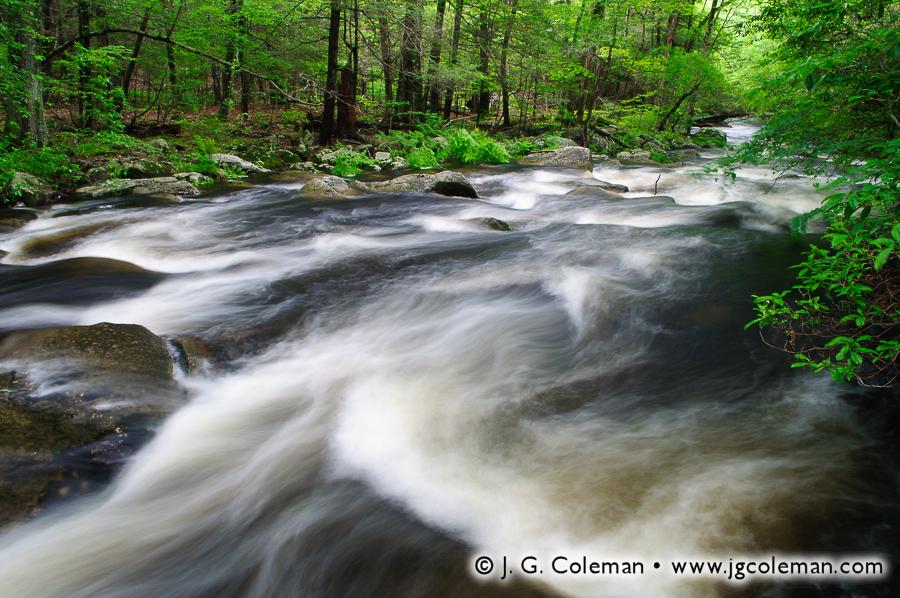 &#8220Whitewater on the Hammonasset River&#8221, Hammonasset River, Bailey Preserve, Madison, Connecticut