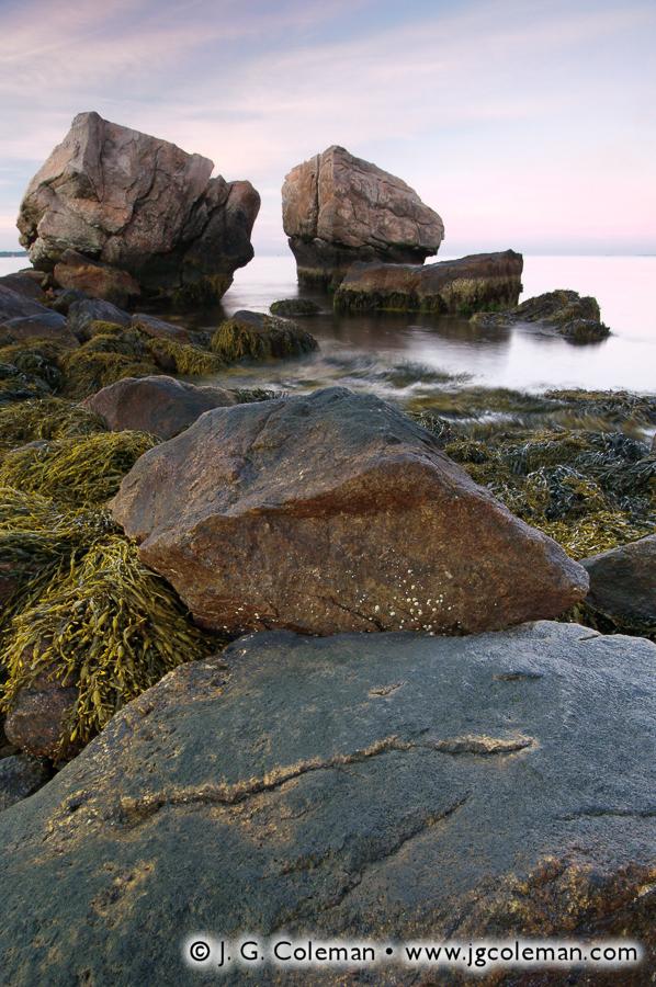 &#8220Split Rock Twilight&#8221, Bluff Point State Park, Groton, Connecticut