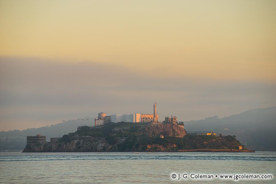 &#8220Citadel&#8221, Alcatraz Island in San Francisco Bay, San Francisco, California