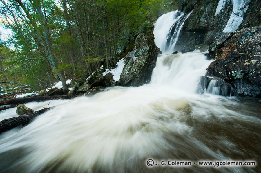 &#8220At the Foot of Campbell Falls&#8221, Campbell Falls, Campbell Falls State Park, New Marlborough, Massachusetts