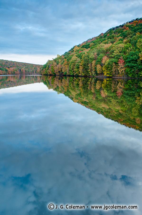 &#8220Cloud Mirror&#8221, Crescent Lake, Giuffrida Park, Meriden, Connecticut