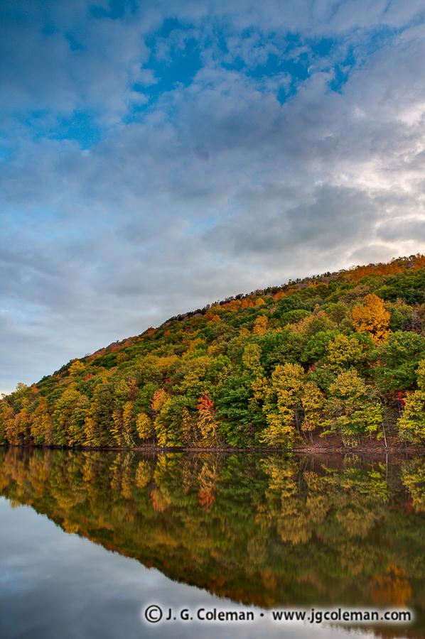 &#8220Daybreak Over Chauncey Ridges&#8221, Crescent Lake, Giuffrida Park, Meriden, Connecticut