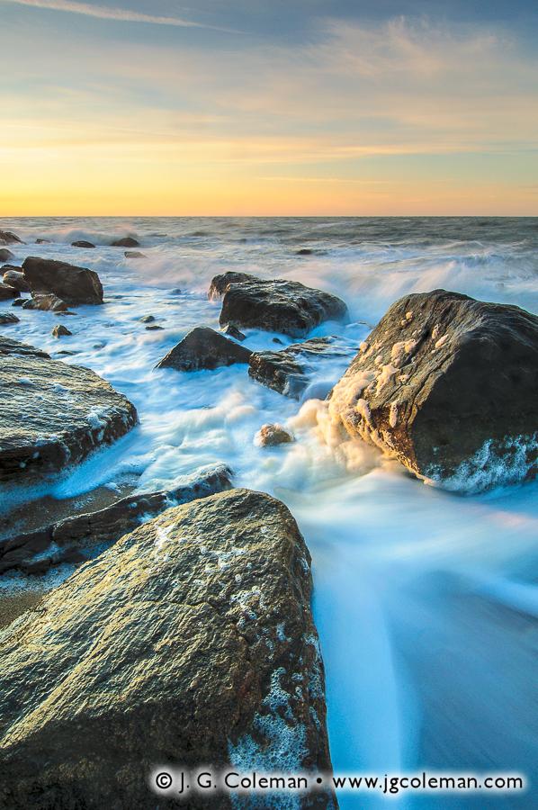 &#8220Rocky Shores of Madison&#8221, Hammonasset Beach State Park, Madison, Connecticut