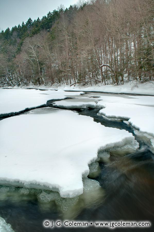 &#8220Ice Channels on the Shepaug&#8221, Shepaug River, Hidden Valley Preserve, Washington, Connecticut