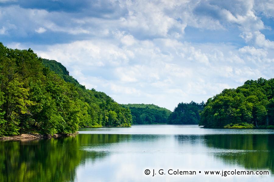 &#8220Summertime on Merimere&#8221, Merimere Reservoir, Hubbard Park, Meriden, Connecticut