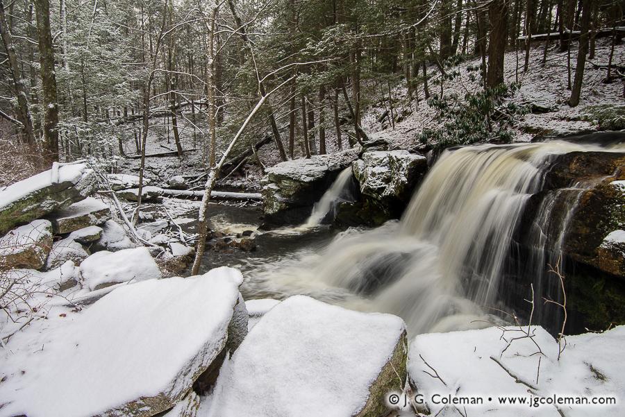 &#8220Northfield December&#8221, Knife Shop Falls, Humaston Brook State Park, Litchfield, Connecticut