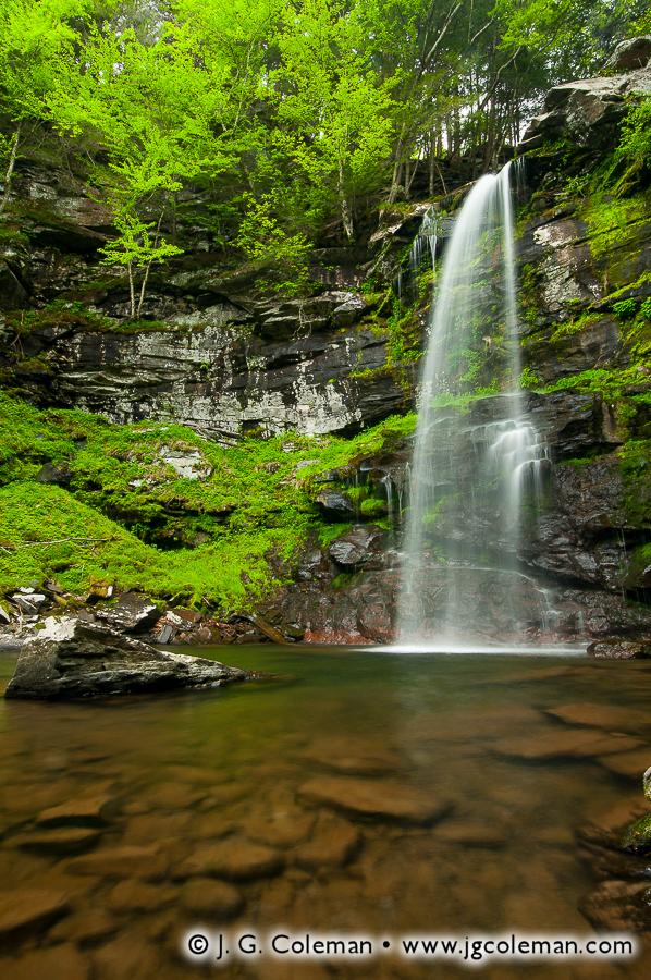&#8220Plume of Plattekill Falls&#8221, Plattekill Falls, Indian Head Wilderness, Hunter, New York