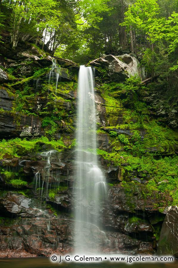 &#8220Plattekill Skyward&#8221, Plattekill Falls, Indian Head Wilderness, Hunter, New York