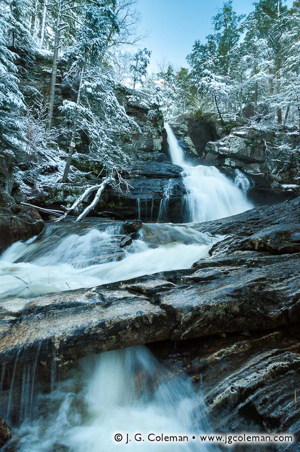 &#8220Spring Snow on Kent Falls&#8221, Kent Falls, Kent Falls State Park, Kent, Connecticut