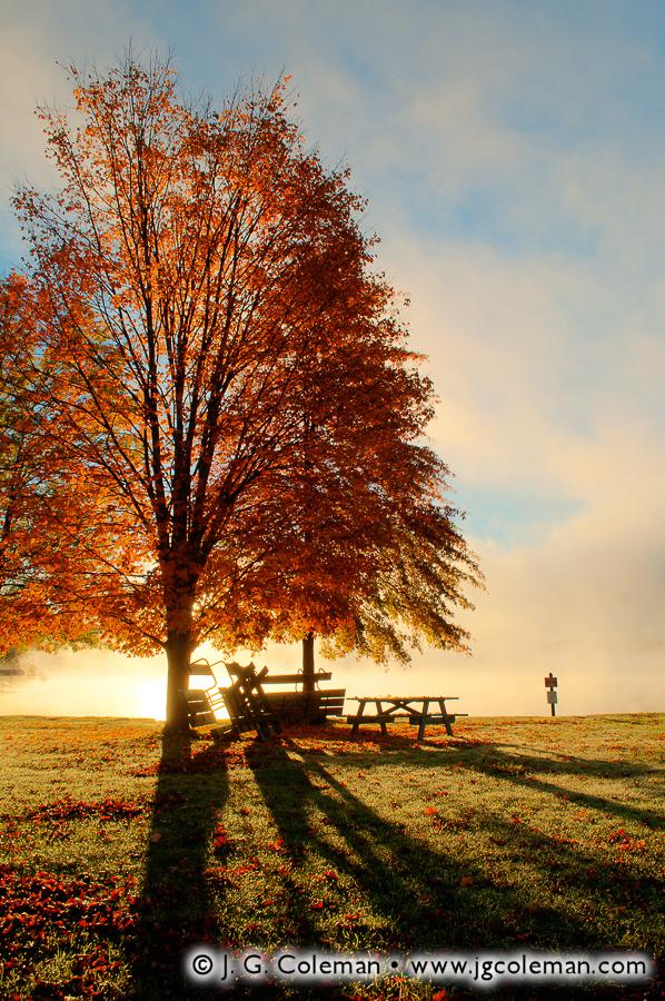 &#8220Searing Dawn&#8221, Lake Bomoseen State Park, Castleton, Vermont