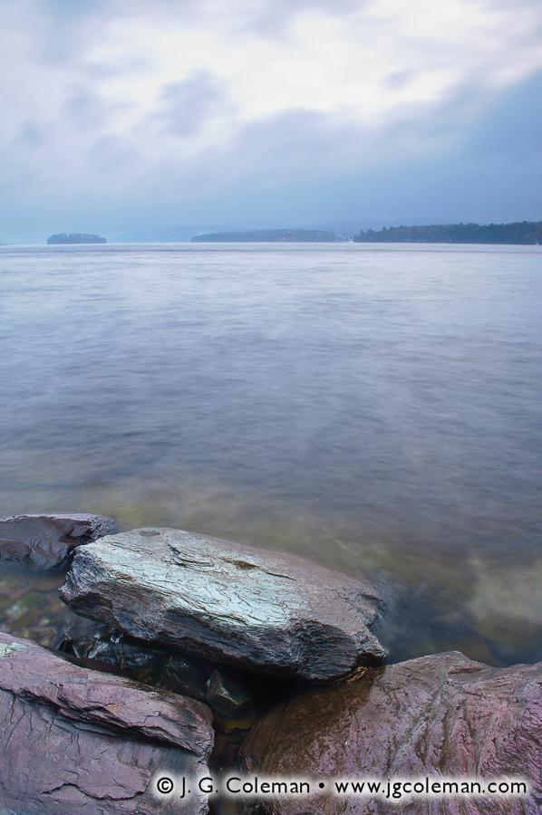 &#8220Winter Twilight on Bomoseen&#8221, Lake Bomoseen, Castleton, Vermont