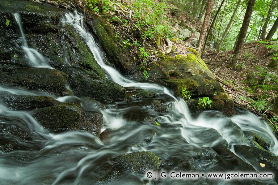&#8220Prydden Falling&#8221, Prydden Brook Falls, Paugussett State Forest, Newtown, Connecticut
