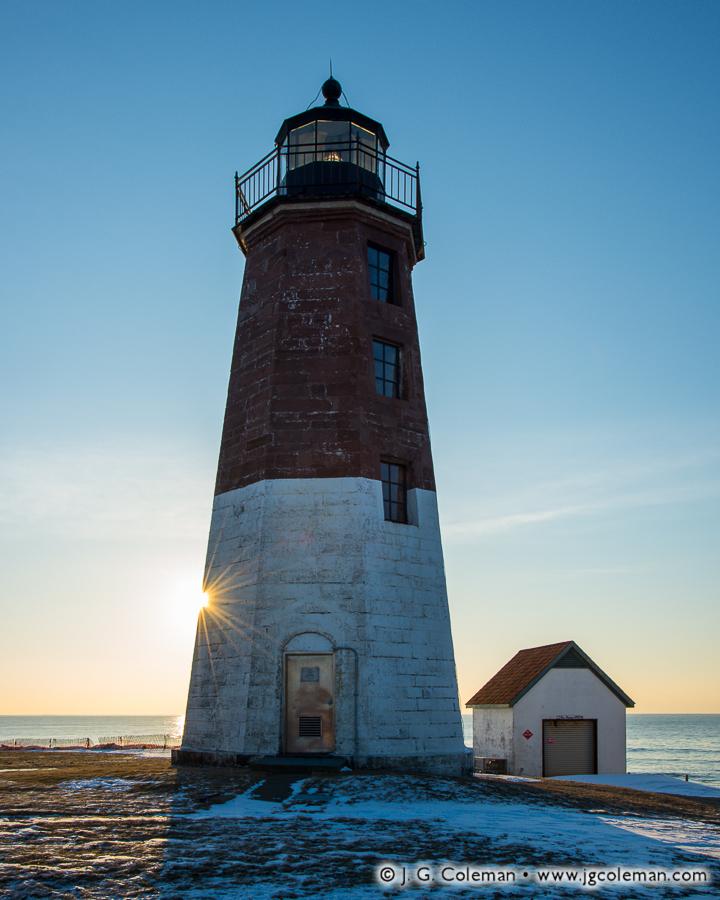 &#8220Sunlit Judith&#8221, Point Judith Lighthouse, Narragansett, Rhode Island