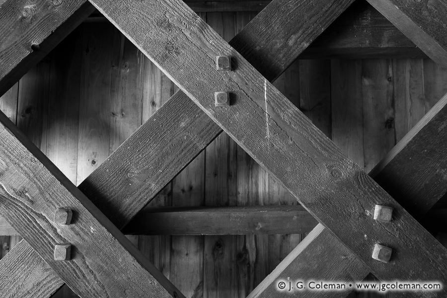 &#8220Lattice & Treenails&#8221, Sheffield Covered Bridge, Sheffield, Massachusetts