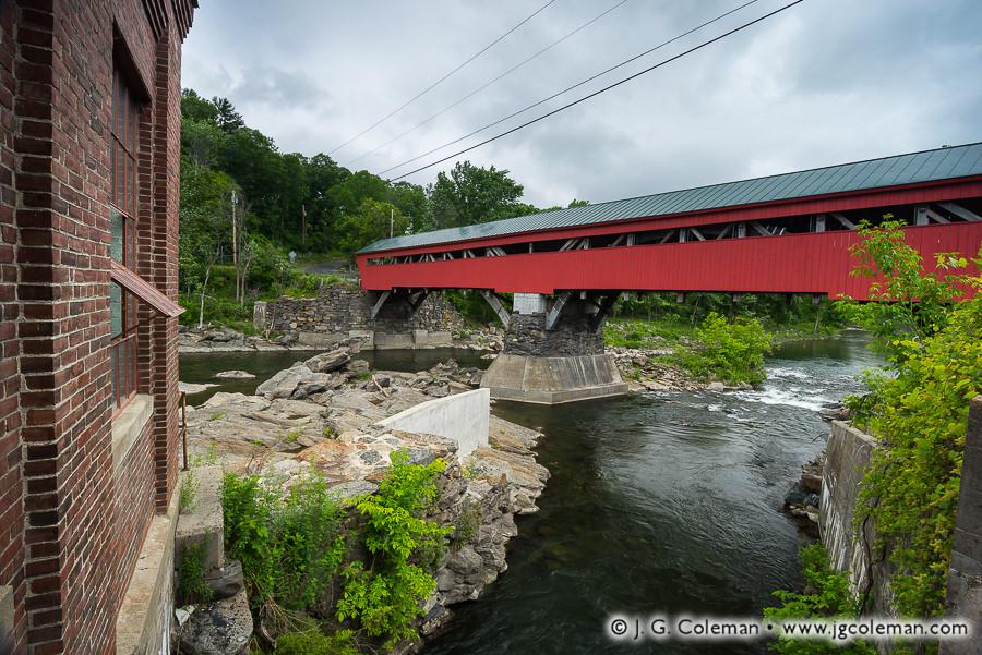 &#8220Taft's Crossing on the Ottauquechee&#8221, Taftsville Covered Bridge over the Ottauquechee River, Woodstock, Vermont