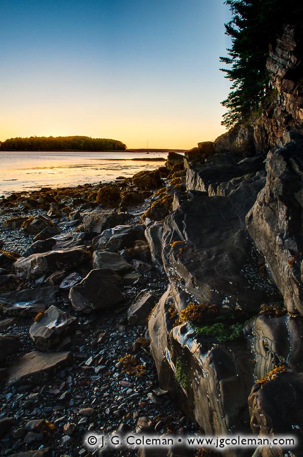 &#8220Cliffs at Frenchman Bay&#8221, Frenchman Bay & Bar Island, Mount Desert Island, Maine