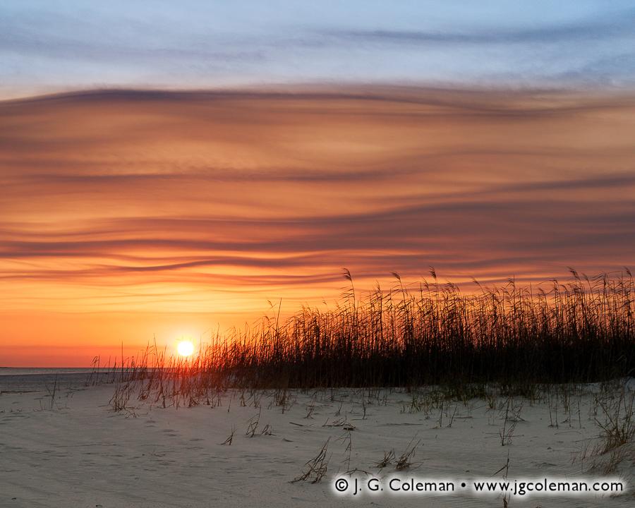 &#8220Sunset on Dauphin Dunes&#8221, Dauphin Island, Alabama