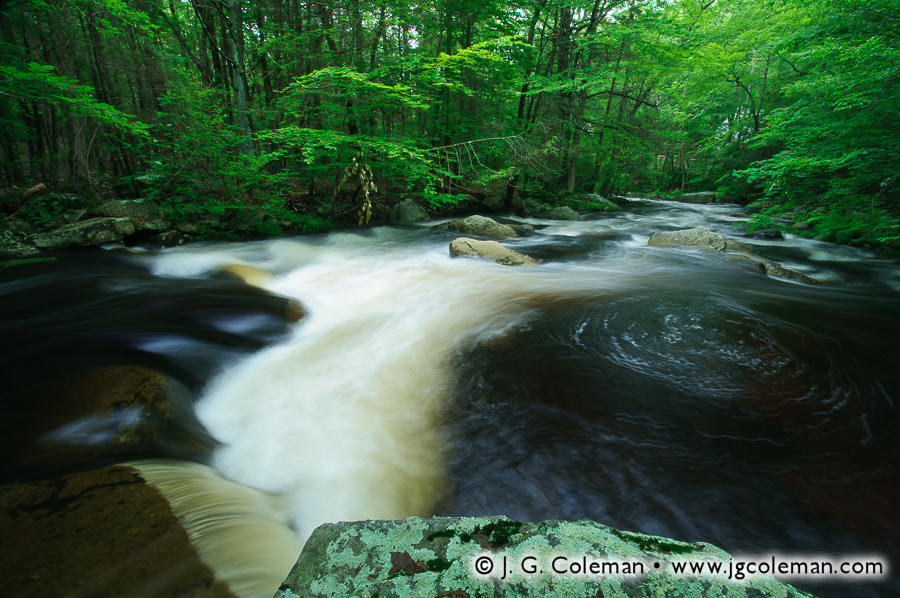 &#8220Rapids of Bailey South&#8221, Hammonasset River, Bailey Preserve, Madison, Connecticut