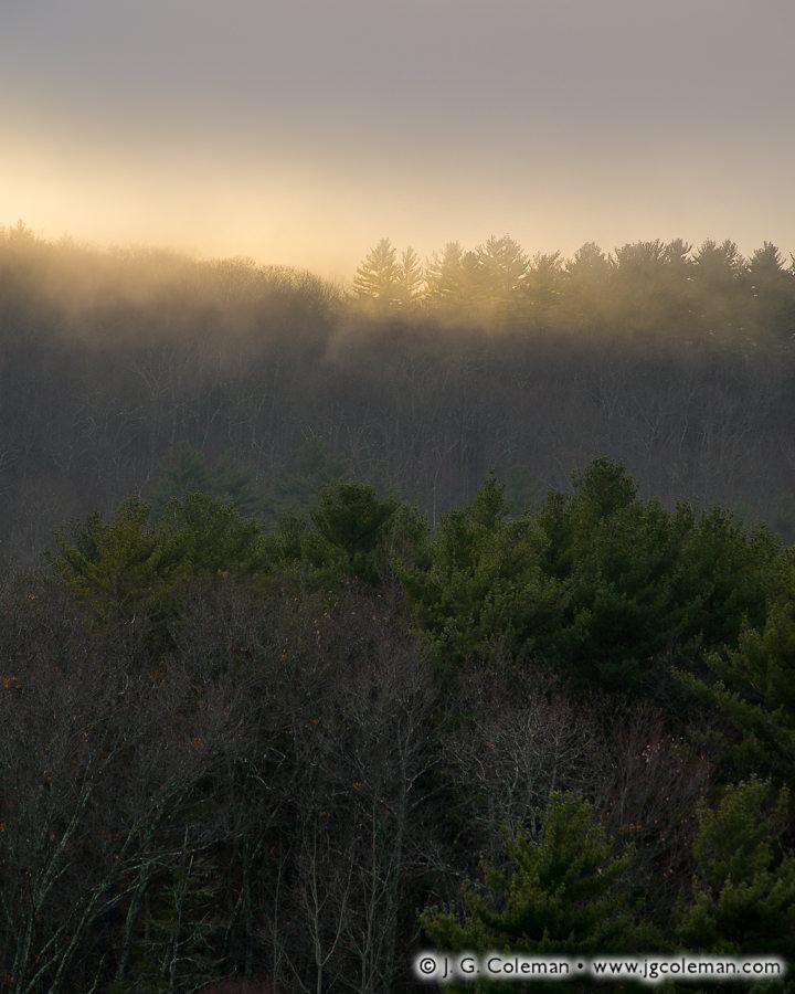 Kindling the Hills (Hills beside Barkhamsted Reservoir, Barkhamsted, Connecticut)