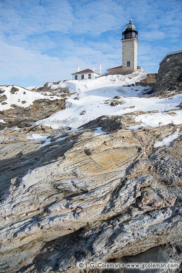 &#8220The Light at Narragansett Bay&#8221, Beavertail Lighthouse, Beavertail State Park, Jamestown, Rhode Island