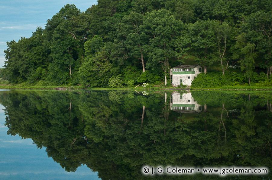 &#8220Boathouse at Black Pond&#8221, Black Pond State Wildlife Management Area, Middlefield, Connecticut
