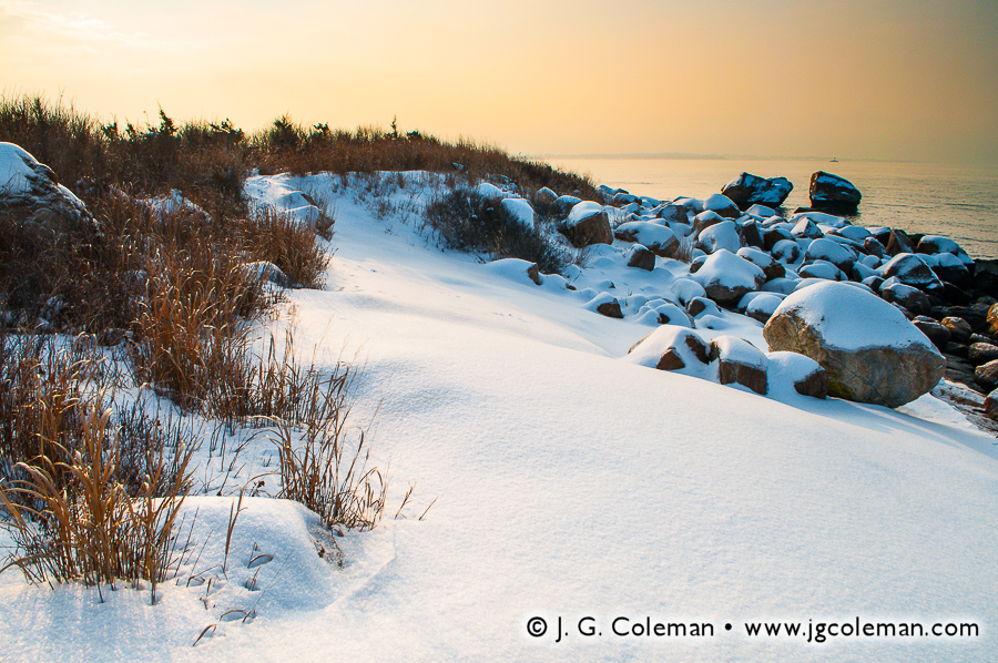&#8220Snowy Dunes of Bluff Point&#8221, Bluff Point State Park, Groton, Connecticut