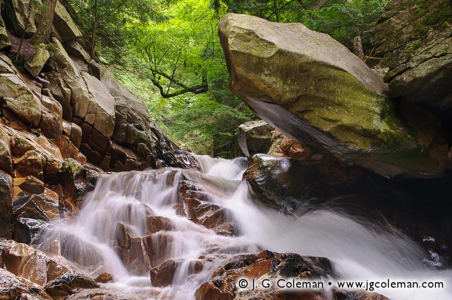 &#8220Cascades at Branbury&#8221, Sucker Brook, Branbury State Park, Salisbury, Vermont