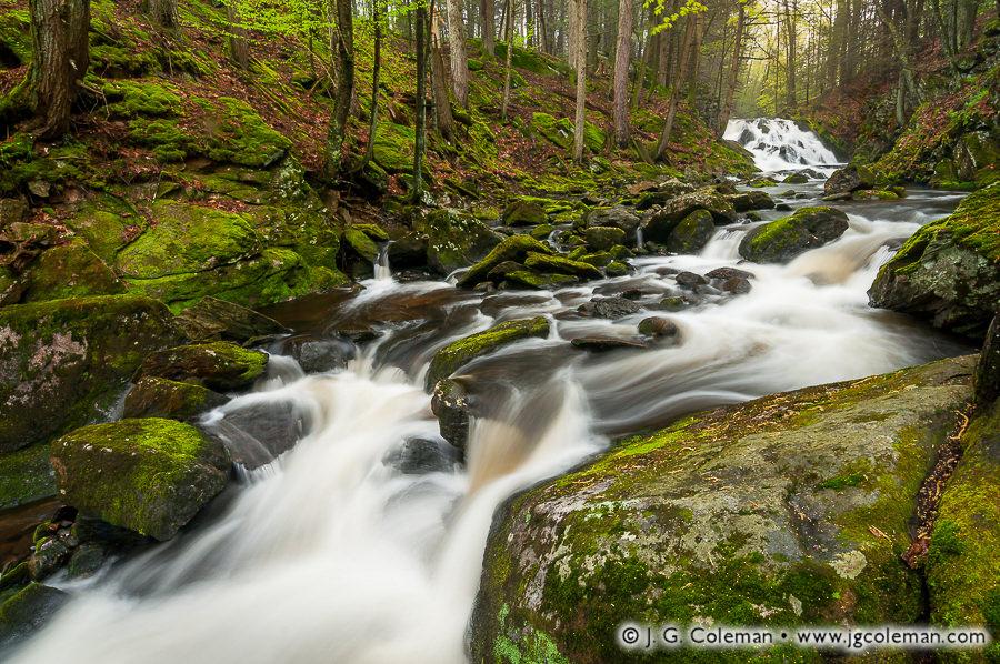 &#8220Old Hotchkiss Riverscape&#8221, Upper Burlington Falls on Bunnell Brook, Burlington, Connecticut