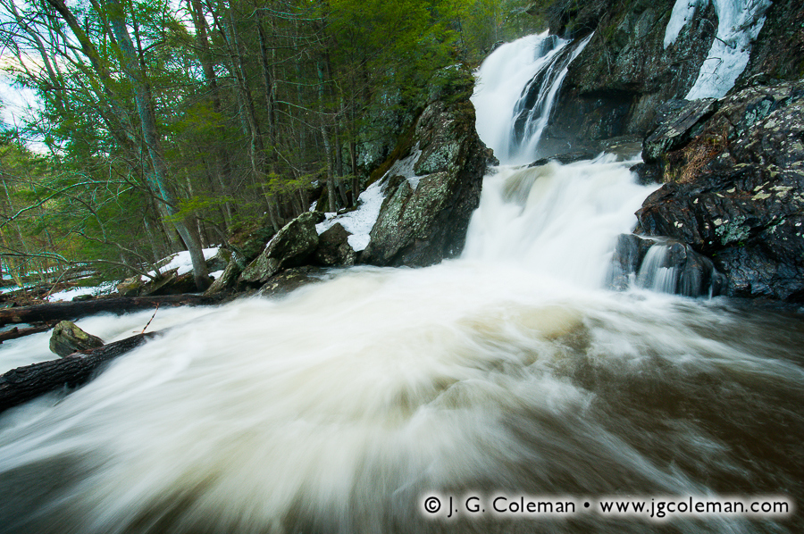 &#8220At the Foot of Campbell Falls&#8221, Campbell Falls, New Marlborough, Massachusetts