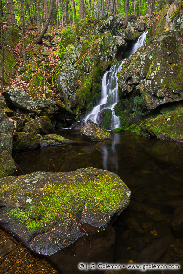 &#8220Descent to the Westfield&#8221, Goldmine Brook Falls, Chester-Blandford State Forest, Chester, Massachusetts