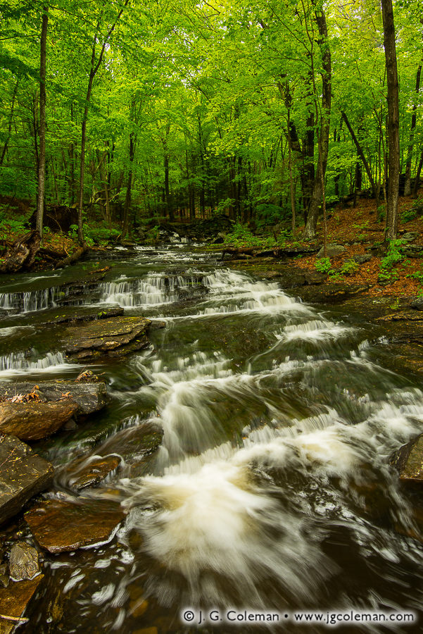 &#8220Clark's Stairway&#8221, Clark Creek Falls on Clark Creek, Haddam, Connecticut