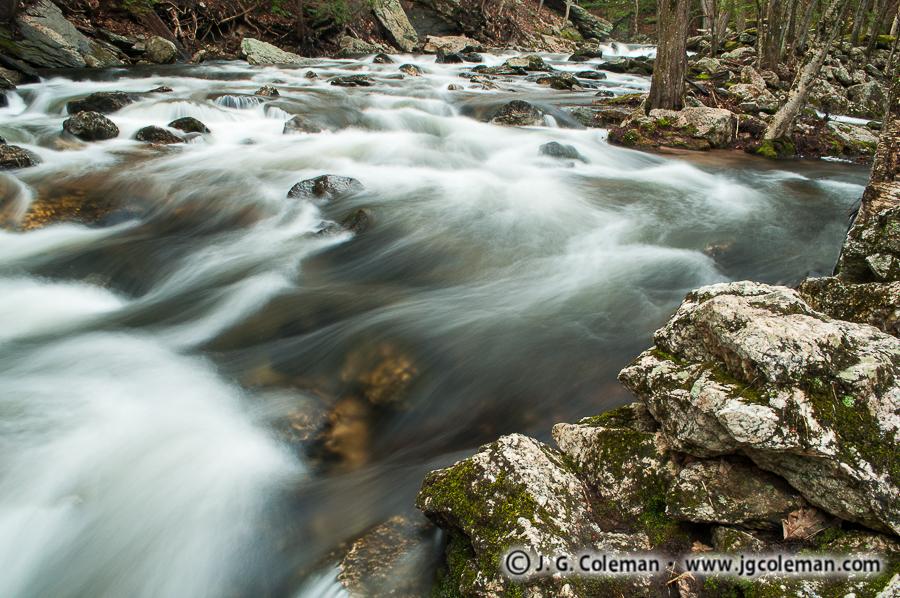 &#8220Roaring Brook Rapids&#8221, Roaring Brook, Cotton Hollow Preserve, Glastonbury, Connecticut