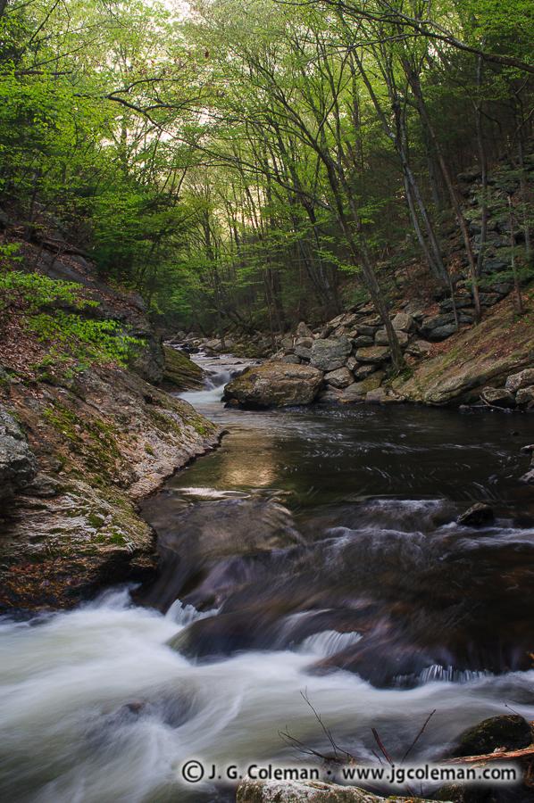 &#8220Dawn Over Roaring Brook&#8221, Roaring Brook, Cotton Hollow Preserve, Glastonbury, Connecticut
