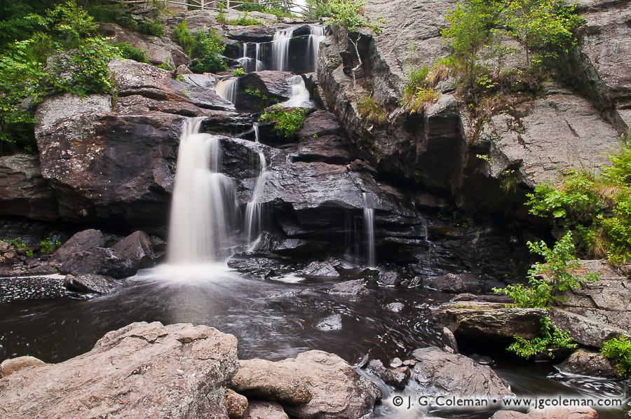 &#8220Falls at the Hopyard&#8221, Chapman Falls, Devil's Hopyard State Park, East Haddam, Connecticut