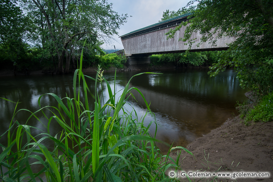 &#8220Goreham's Crossing at Pittsford&#8221, Goreham Bridge over Otter Creek, Pittsford & Proctor, Vermont