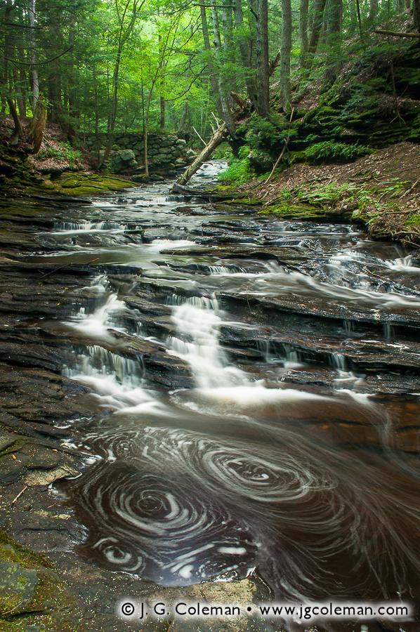 &#8220Grayville Riverscape&#8221, Raymond Brook, Grayville Falls Park, Hebron, Connecticut