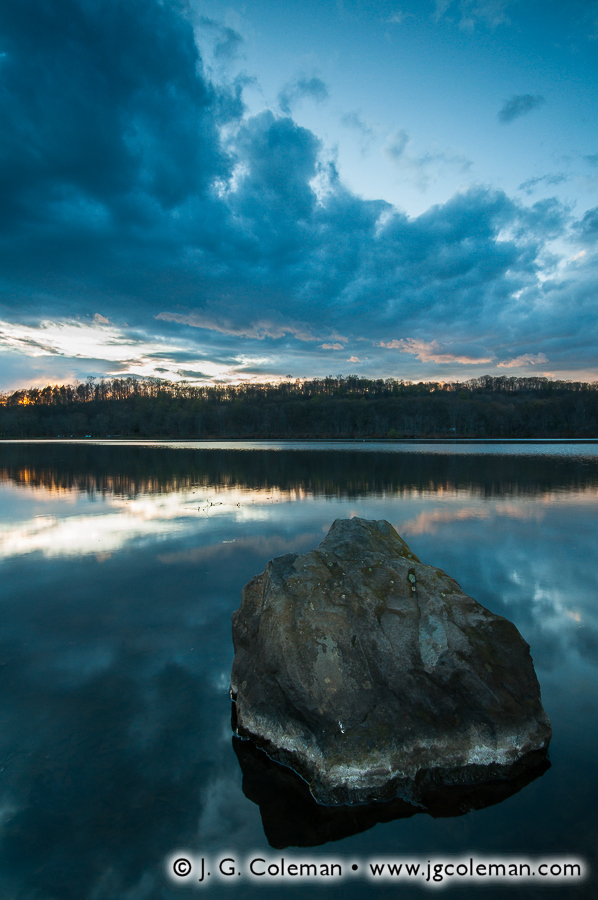 &#8220Day's End at Hanover&#8221, Hanover Pond, Hanover Pond Park, Meriden, Connecticut