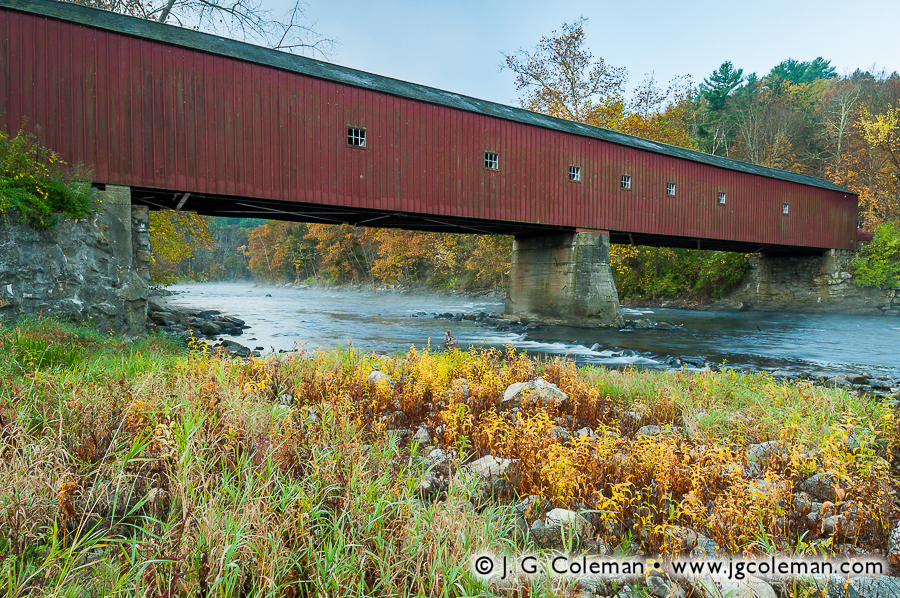 &#8220Hart's Crossing at West Cornwall&#8221, West Cornwall Covered Bridge on the Housatonic River, Cornwall, Connecticut