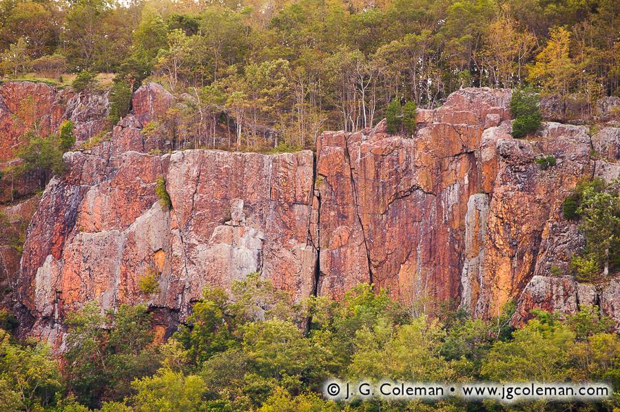 &#8220Traprock and Woodlands&#8221, Cliffs of East Peak, Hubbard Park, Meriden, Connecticut