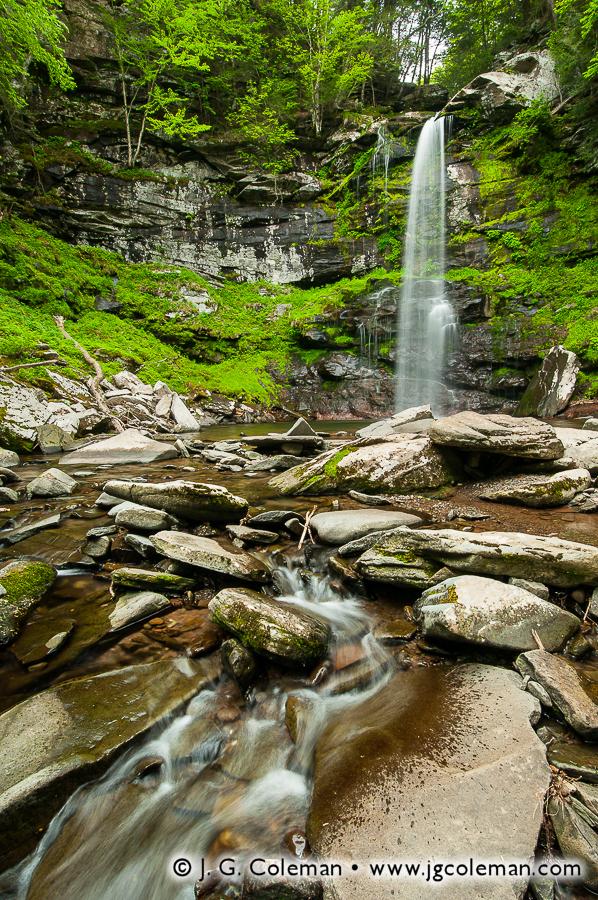 &#8220Plattekill Fallscape&#8221, Plattekill Falls, Indian Head Wilderness, Hunter, New York
