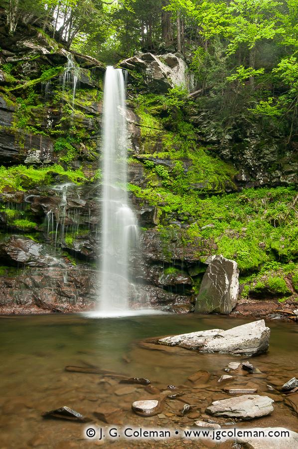 &#8220Towering Plattekill&#8221, Plattekill Falls, Indian Head Wilderness, Hunter, New York