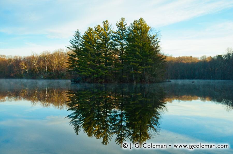 &#8220Ironwoods Island on Shelley Lakes&#8221, Shelley Lakes, Ironwoods Preserve, Madison, Connecticut