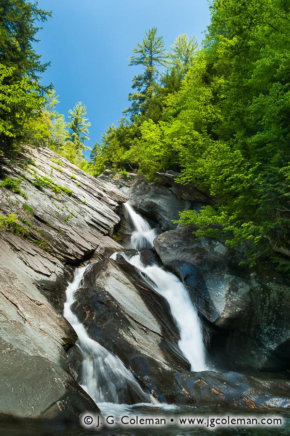 &#8220Falls on Cobb Brook&#8221, Hamilton Falls on Cobb Brook, Jamaica State Park, Jamaica, Vermont