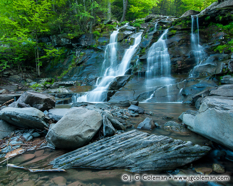 &#8220Bastion Springtime&#8221, Bastion Falls, Kaaterskill Wild Forest, Hunter, New York
