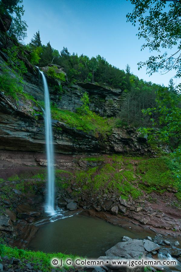 &#8220Twilight on Kaaterskill Clove&#8221, Kaaterskill Falls, Kaaterskill Wild Forest, Hunter, New York