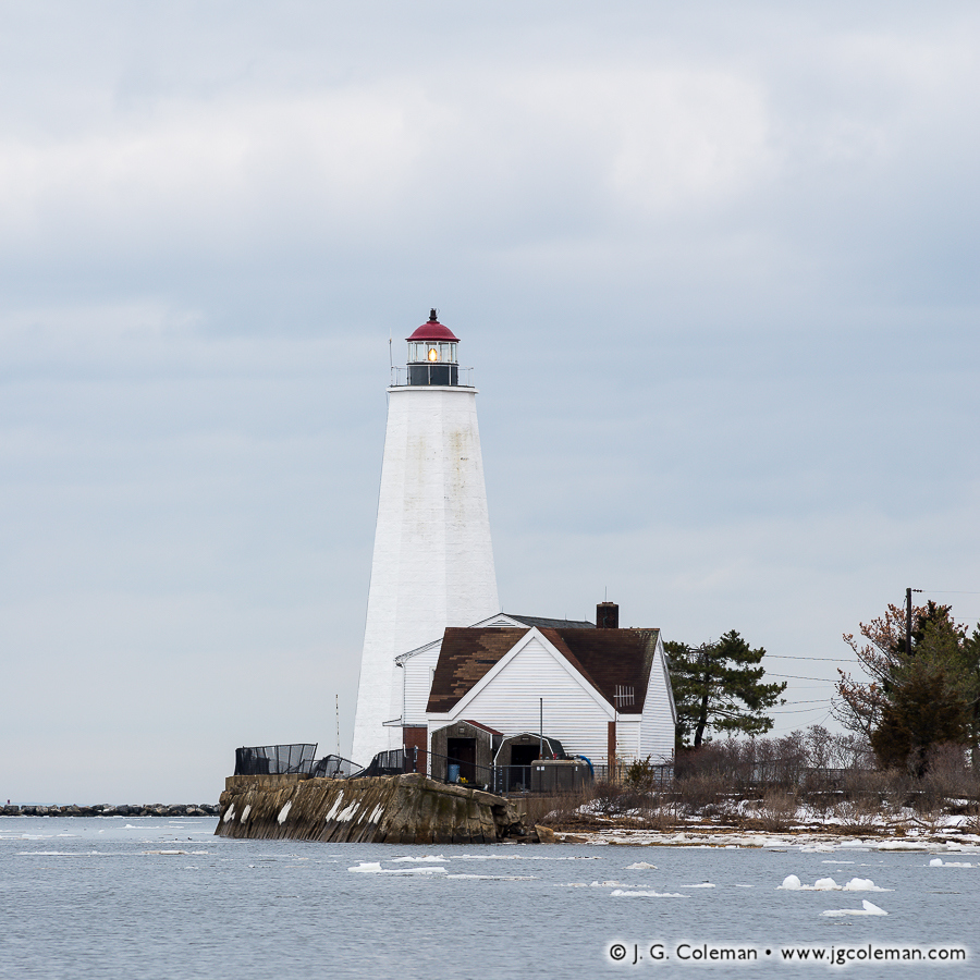 &#8220The Inner Light at Saybrook&#8221, Lynde Point Lighthouse on Long Island Sound, Old Saybrook, Connecticut