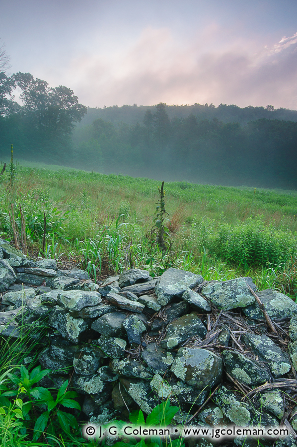 &#8220Sunrise and Fieldstone&#8221, Machimoodus State Park, East Haddam, Connecticut