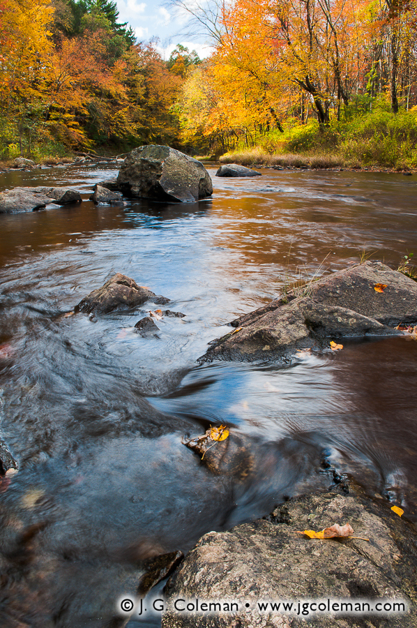 &#8220Autumn on the Natchaug&#8221, Mansfield Hollow State Park, Windham, Connecticut