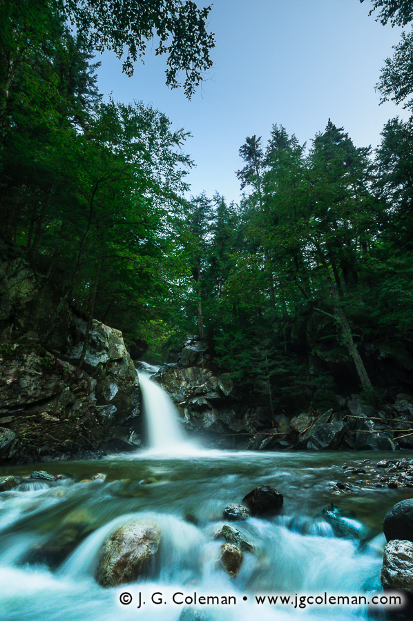 &#8220Twilight on McLaughlin Falls&#8221, Twilight on McLaughlin Falls, Eddy Brook (north branch), Mendon, Vermont