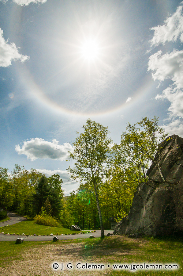 &#8220Halo Over North Adams&#8221, Natural Bridge State Park, North Adams, Massachusetts